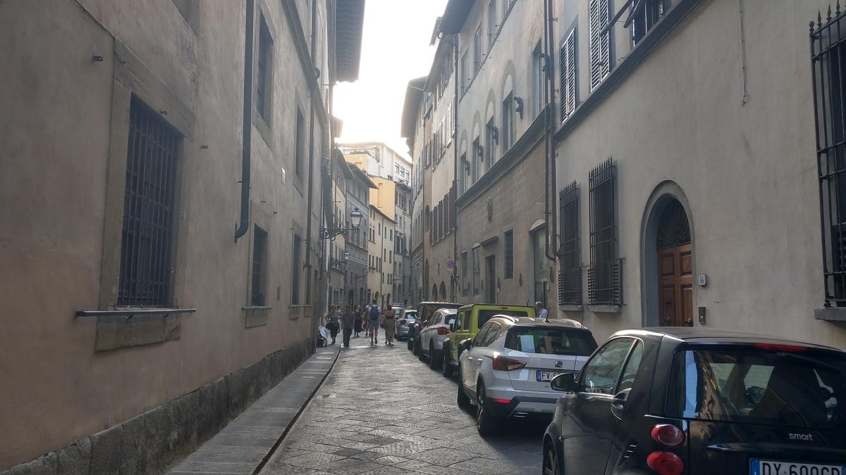 フィレンツェ観光2日目 レストランへの道のり