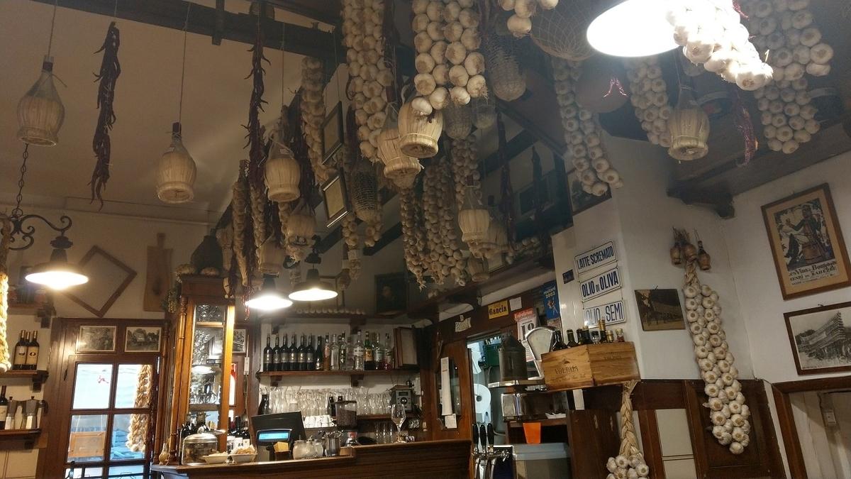 フィレンツェ観光2日目 つるされたにんにく