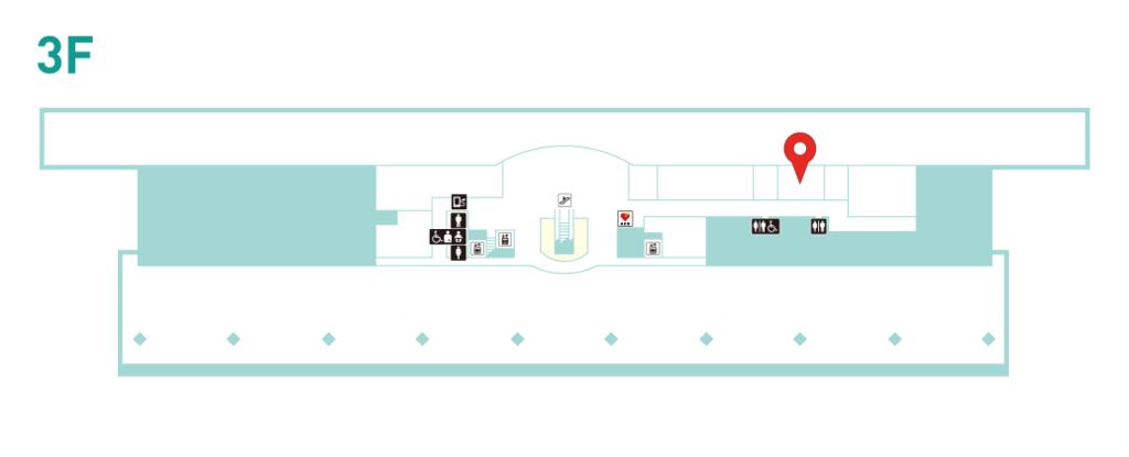 仙台空港3階の案内図