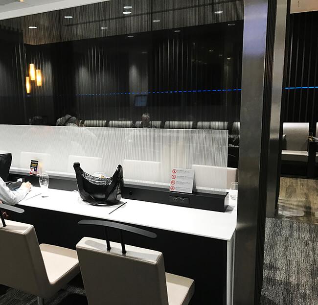 仙台空港anaラウンジの座席ブース