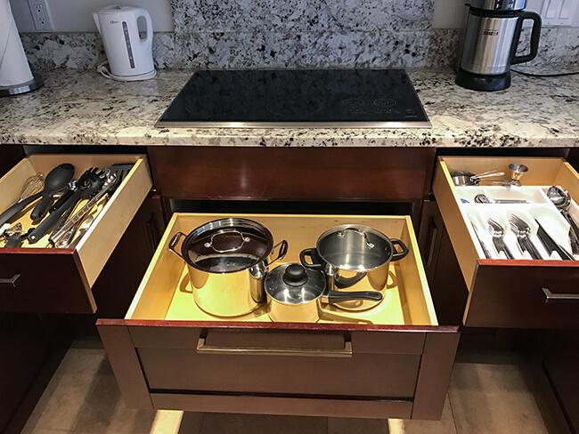 たくさんの調理器具