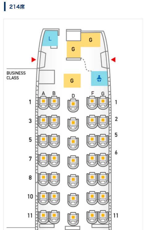 b767-300のシートマップ
