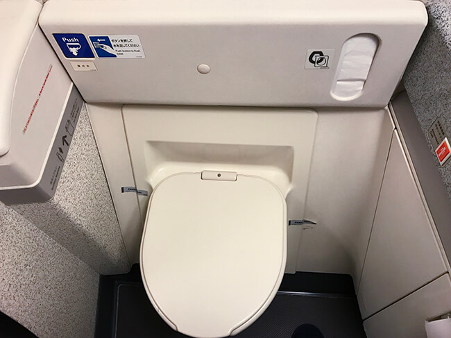 anaビジネスクラスのトイレ