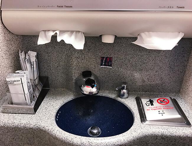 anaビジネスクラストイレのアメニティ