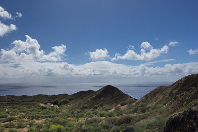 登山道終盤の見晴台からの景色