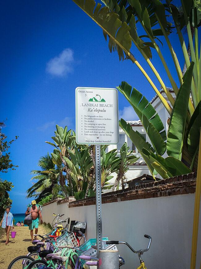 ラニカイビーチ・ビーチアクセスの小道