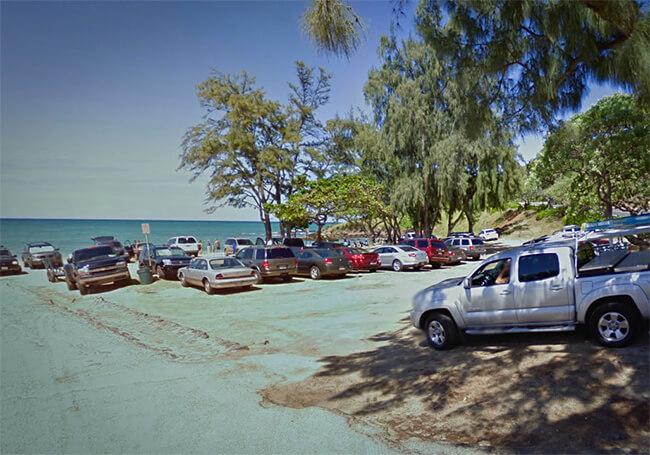 カイルアビーチパーク東側駐車場