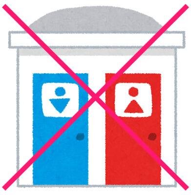 トイレは使えない