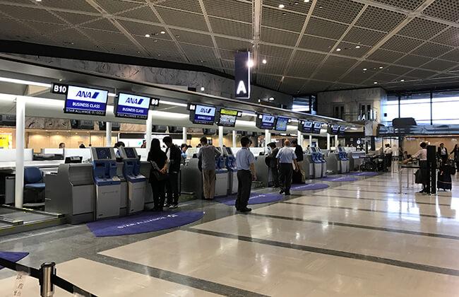 成田国際線anaビジネスクラスカウンター
