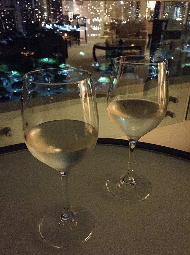 ラナイでワイン