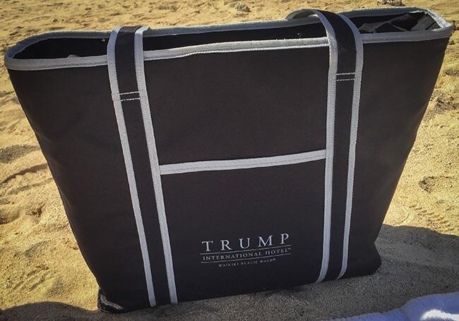 トランプホテルのビーチセット