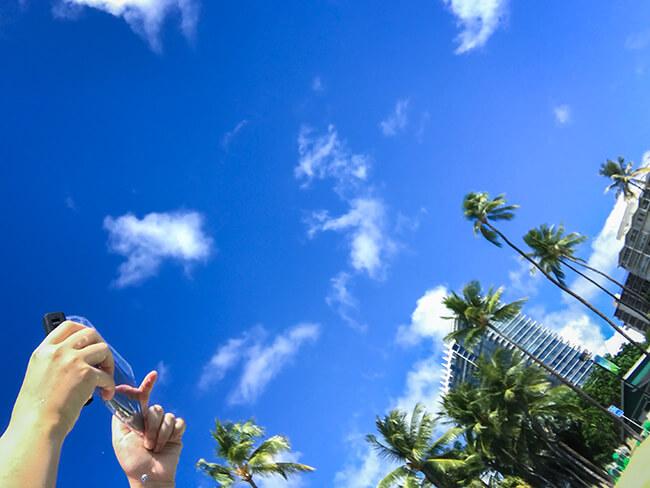 ハワイの海と風