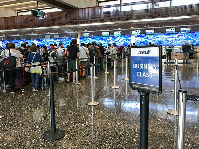ホノルル国際空港ANAチェックインカウンター