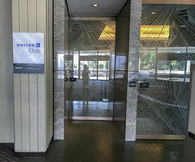 ユナイテッドクラブ・ホノルル入り口