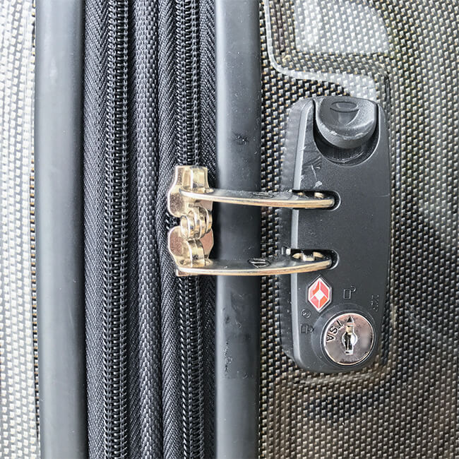 サクセス・スーツケースのtsaロック