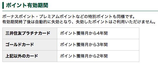 三井住友visaポイントの有効期限