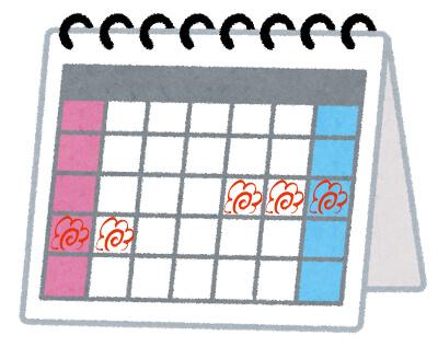 カレンダーと旅行予定