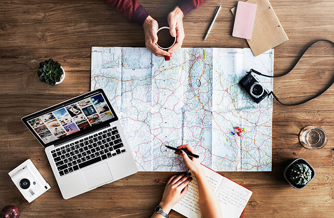 ana特典航空券での旅行行程の検討
