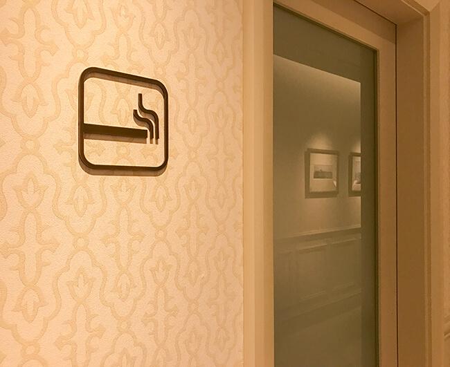 東京ステーションホテルの喫煙ルーム