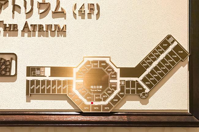 東京ステーションホテル3階の案内図