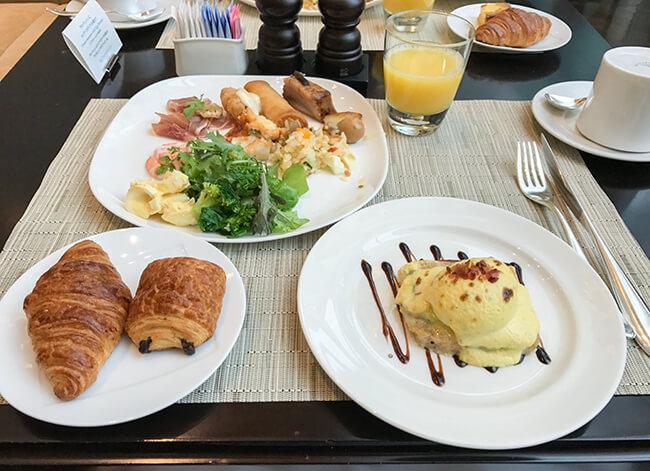 東京ステーションホテルでの朝食ビュッフェ
