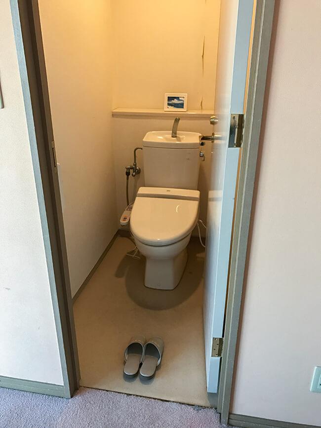 ダブル客室のトイレ
