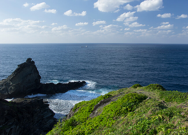 御神崎から見る海