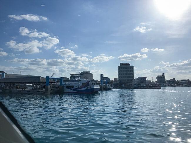 石垣港離島ターミナル出発
