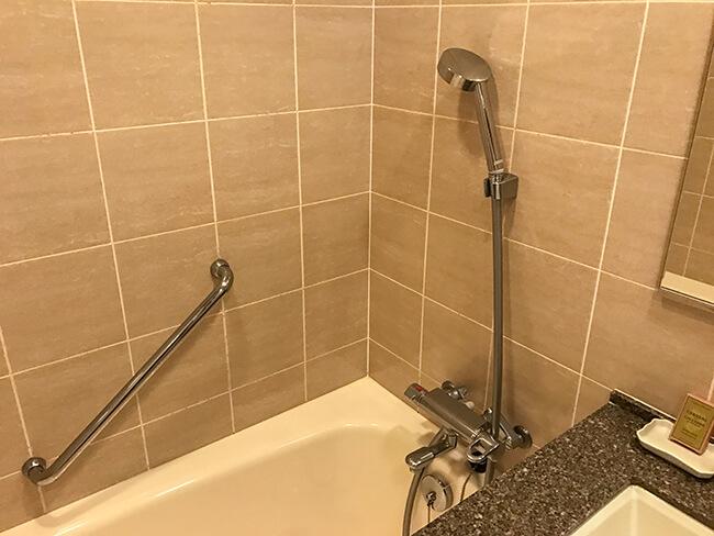 シャワーはハンドシャワーのみ