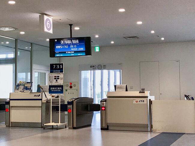 石垣空港6番搭乗口