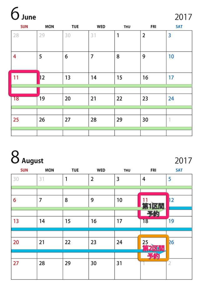 2ヶ月と14日先まで予約可能