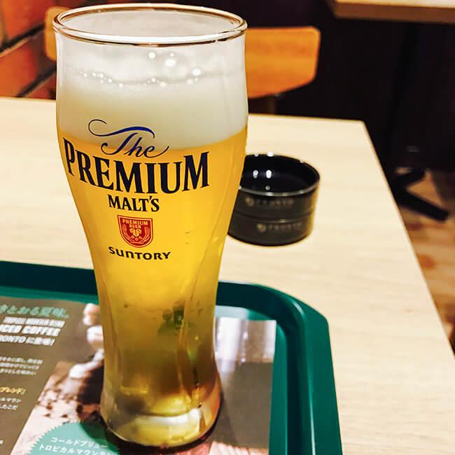 仙台空港でモーニングビール