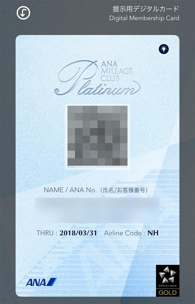 anaプラチナ・デジタルカード