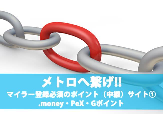 陸マイラーが必ず登録すべき必須ポイント(中継)サイトとは?:.money・PeX・Gポイント