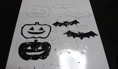 ハロウィンの窓に貼るシール6