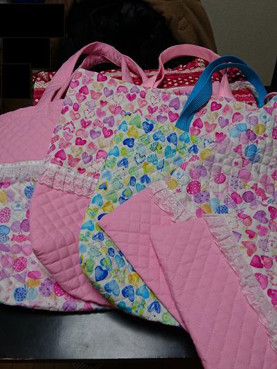 手作りの手提げ袋たち