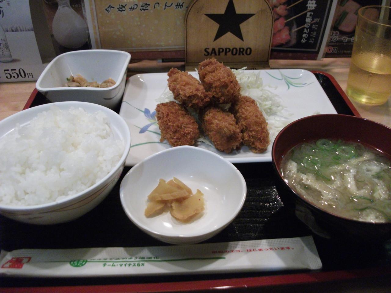 11:42 カキフライ定食550円@串鳥