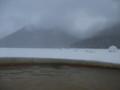 [鹿追][然別湖][温泉] 12:56 氷上露天風呂からの眺め