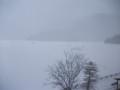 [鹿追][然別湖][温泉] 14:18 部屋から見た然別湖