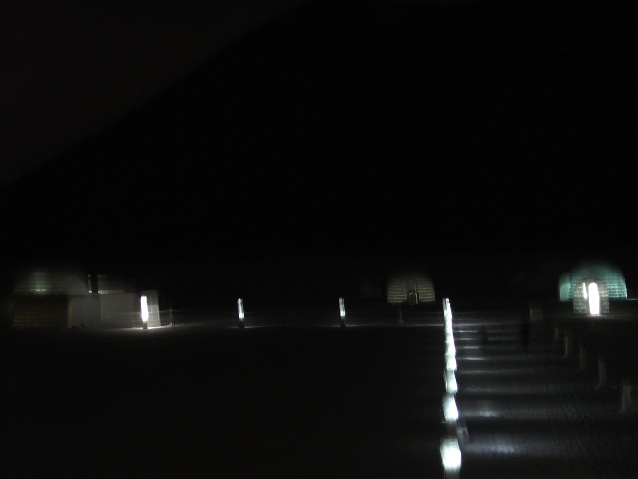 [然別湖[温泉]] 19:25 然別湖コタン夜景