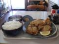 [江別][食堂][定食][大盛り] 13:26 まんぷく食堂 ザンギ定食