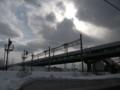 [札幌] 14:52 平和駅人道跨線橋(柏山人道橋)