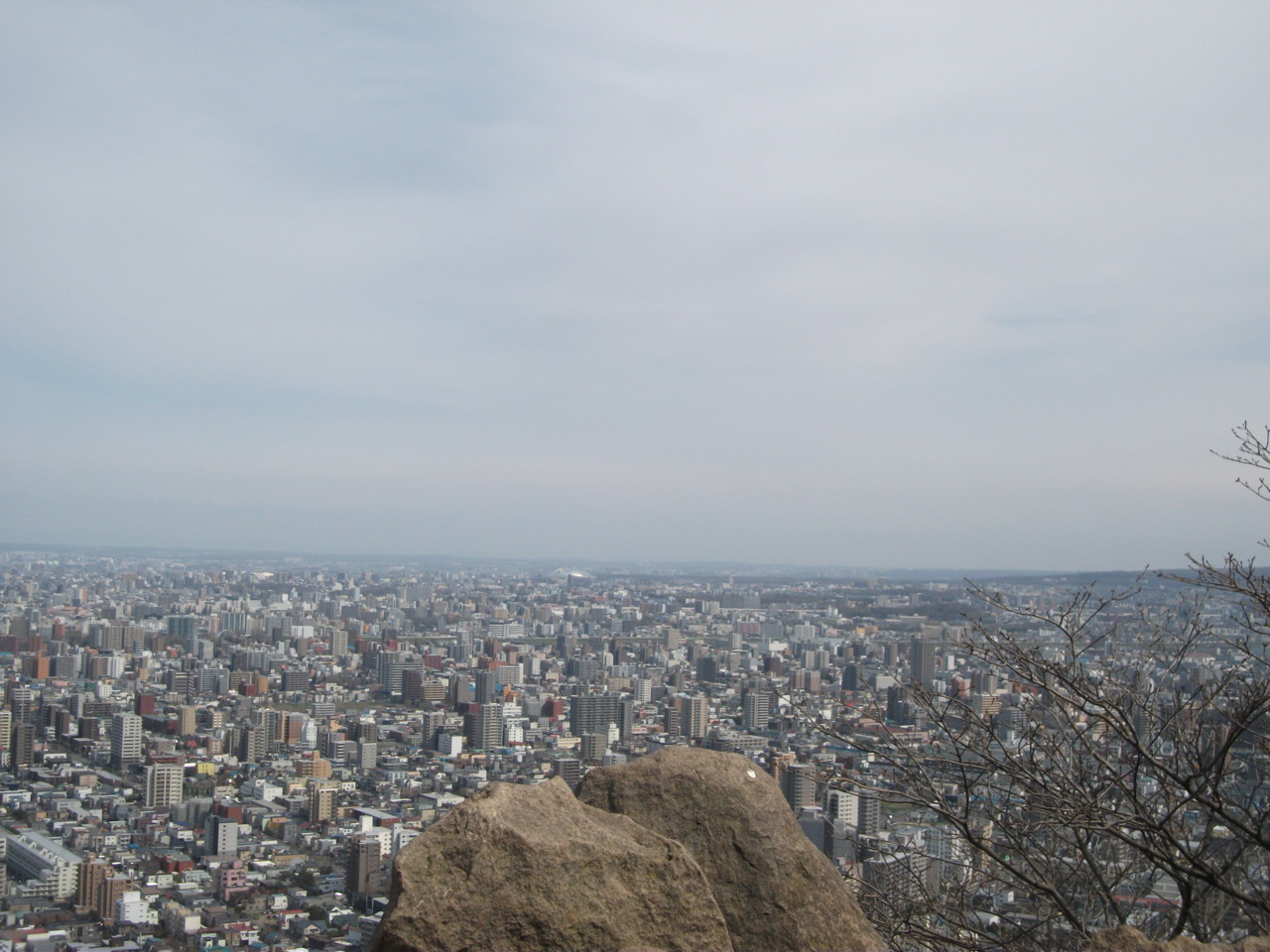 札幌ドーム方面@山頂