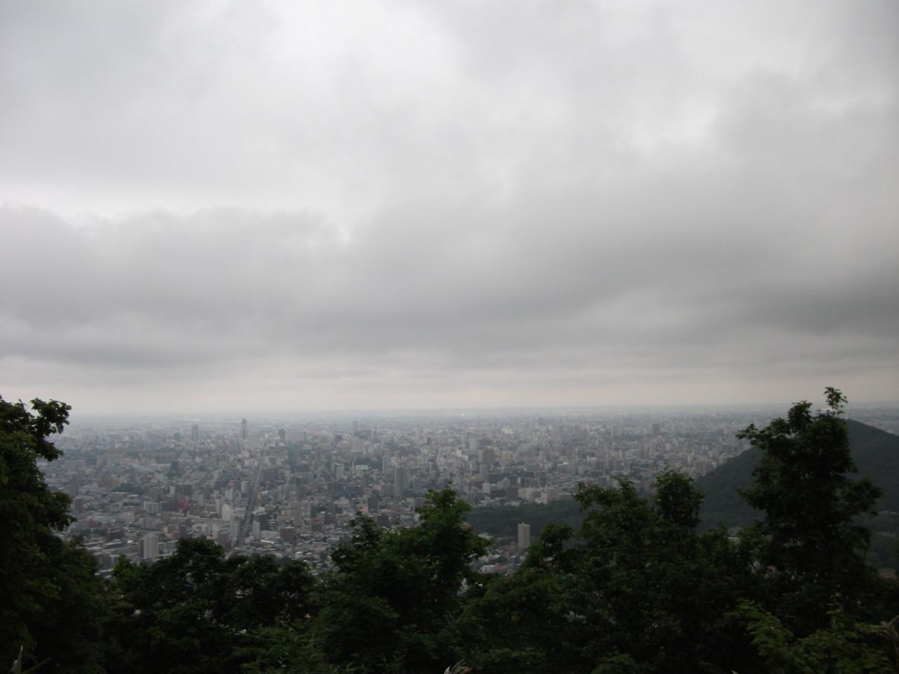 札幌市街@三角山山頂