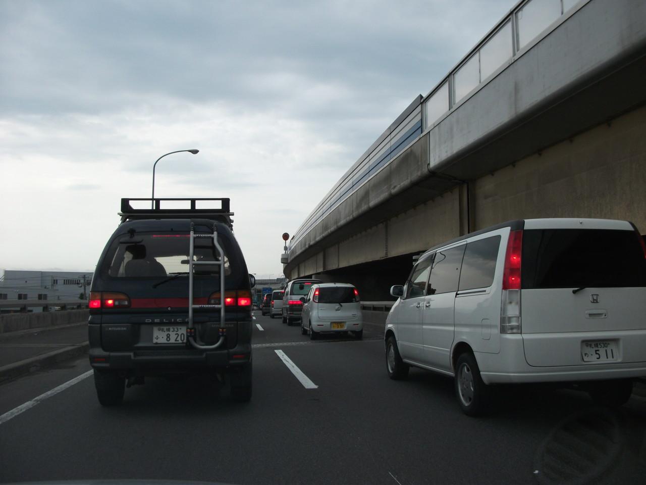謎の早朝渋滞
