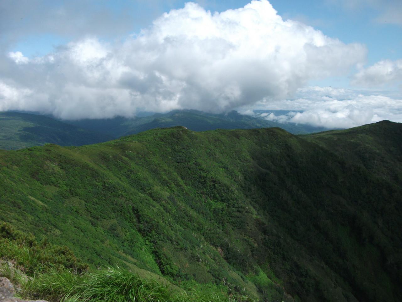 大滝山・徳富岳方面@南暑寒岳山頂
