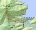 [札幌][小天狗岳] GPSトラック(ポイント飛びすぎにつき参考値)