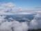 美瑛市街に浮かぶ雲