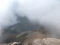 [美瑛][十勝岳] 上ホロ方面のガスが一瞬晴れる@十勝岳山頂