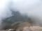 上ホロ方面のガスが一瞬晴れる@十勝岳山頂